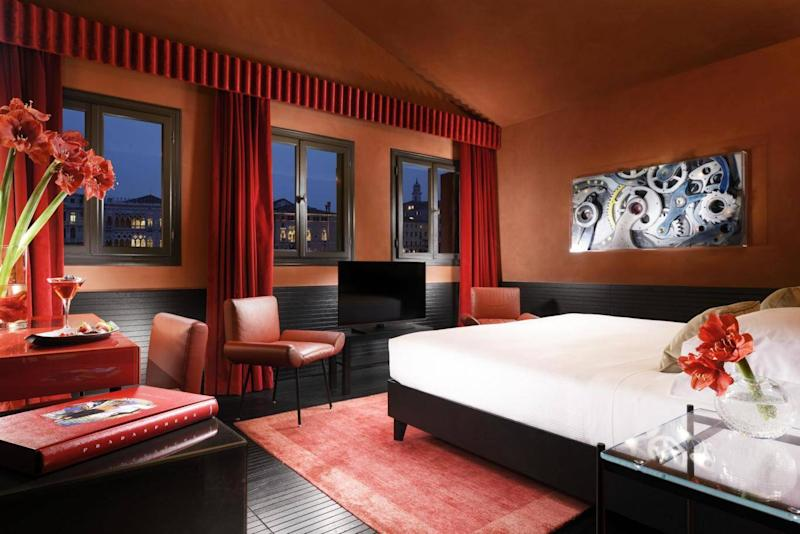 The rooms at Hotel L'Orologio are a bold departure from Venice norms (they're not all this bold, though) (Hotel L'Orologio)