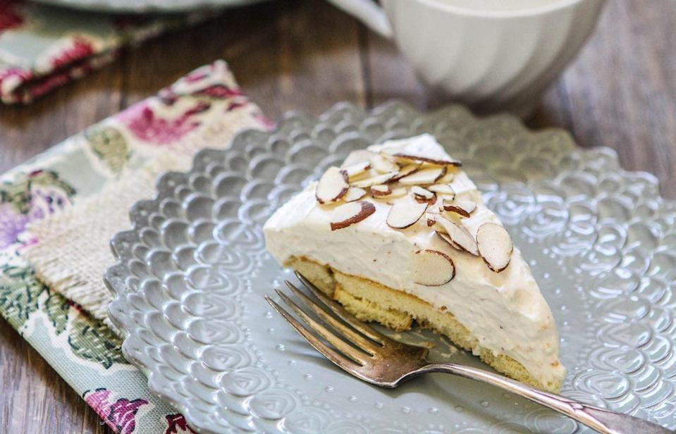 """<p>This eggnog cream cheese pie is a <a href=""""https://www.thedailymeal.com/entertain/10-no-bake-desserts-summer-parties-slideshow?referrer=yahoo&category=beauty_food&include_utm=1&utm_medium=referral&utm_source=yahoo&utm_campaign=feed"""" rel=""""nofollow noopener"""" target=""""_blank"""" data-ylk=""""slk:no-bake recipe"""" class=""""link rapid-noclick-resp"""">no-bake recipe</a>, so you'll be able to use the oven for all your main dishes while dessert sets in the fridge.</p> <p><a href=""""https://www.thedailymeal.com/recipes/eggnog-cream-cheese-pie-recipe?referrer=yahoo&category=beauty_food&include_utm=1&utm_medium=referral&utm_source=yahoo&utm_campaign=feed"""" rel=""""nofollow noopener"""" target=""""_blank"""" data-ylk=""""slk:For the Eggnog Cream Cheese Pie recipe, click here."""" class=""""link rapid-noclick-resp"""">For the Eggnog Cream Cheese Pie recipe, click here.</a></p>"""