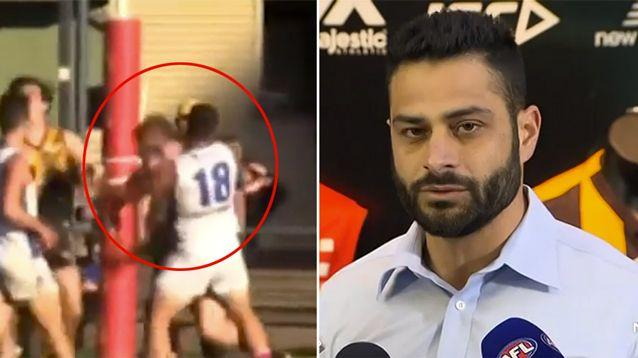 Ali Fahour has made a tearful apology for his punch on Dale Saddlington during a local football match. Source: 7 News