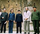 Zhou Enlai, Margaret Trudeau and Pierre Trudeau visit the Longmen Grottoes in Louyang, China, on Oct. 14, 1973. The Longmen Grottoes (Dragon's Gate Grottoes) or Longmen Caves are one of the finest examples of Chinese Buddhist art. THE CANADIAN PRESS/PETER BREGG