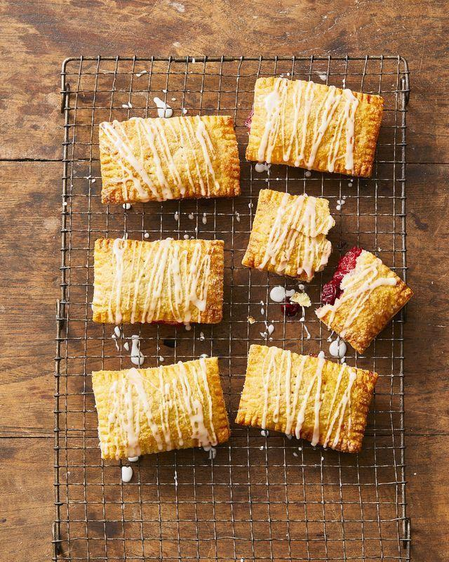 "<p>Sandwich cranberry sauce within pie pastry for a sweet and simple dessert that tastes like an upgraded Pop-Tart. </p><p><em><a href=""https://www.goodhousekeeping.com/food-recipes/dessert/a29429734/cranberry-hand-pie-recipe/"" rel=""nofollow noopener"" target=""_blank"" data-ylk=""slk:Get the recipe for Cranberry Hand Pies »"" class=""link rapid-noclick-resp"">Get the recipe for Cranberry Hand Pies »</a></em></p>"