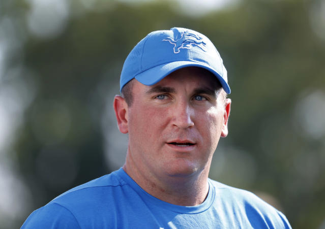 "Former <a class=""link rapid-noclick-resp"" href=""/nfl/teams/detroit/"" data-ylk=""slk:Detroit Lions"">Detroit Lions</a> offensive coordinator Jim Bob Cooter was hired by the <a class=""link rapid-noclick-resp"" href=""/nfl/teams/ny-jets/"" data-ylk=""slk:Jets"">Jets</a>. (AP)"