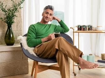 The Queer Eye star on starting his day with tooth brushing and coffee, and why he stands in front of the mirror in his underwear. (Photo: Scott McDermott for Starbucks)
