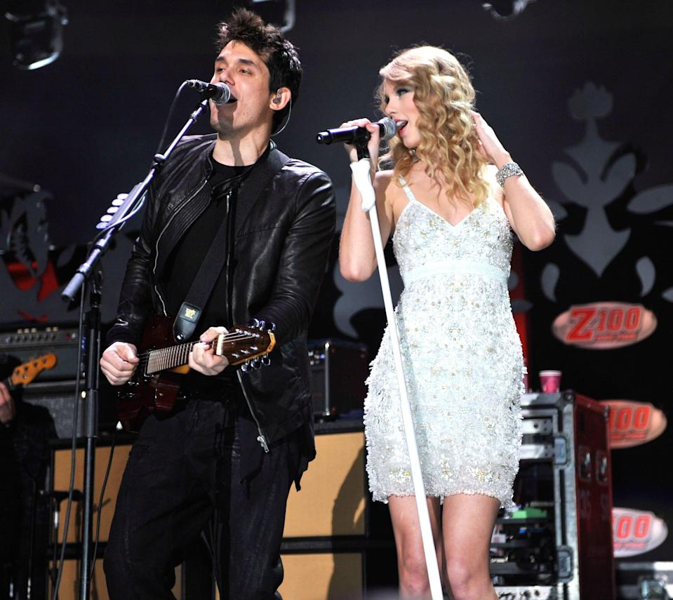 """<p><strong>When:</strong> December 2009 - February 2010</p> <p>Taylor was romantically linked to <a class=""""link rapid-noclick-resp"""" href=""""https://www.popsugar.com/John-Mayer"""" rel=""""nofollow noopener"""" target=""""_blank"""" data-ylk=""""slk:John Mayer"""">John Mayer</a> when they collaborated on his song """"Half of My Heart,"""" but things between the couple quickly soured. Taylor entitled the breakup song """"Dear John"""" about him, which clearly <a href=""""http://www.rollingstone.com/music/music-news/john-mayer-taylor-swifts-dear-john-song-humiliated-me-107169/"""" class=""""link rapid-noclick-resp"""" rel=""""nofollow noopener"""" target=""""_blank"""" data-ylk=""""slk:didn't hide who it was about"""">didn't hide who it was about</a>. """"There are things that were little nuances of the relationship, little hints,"""" she happily revealed. """"Everyone will know, so I don't really have to send out emails on this one."""" With lyrics like """"Dear John, I see it all, now it was wrong / Don't you think 19 is too young to be played by your dark twisted games, when I loved you so?"""" the """"Daughters"""" singer was none too pleased.</p> <p>""""It made me feel terrible, because I didn't deserve it,"""" he told <strong>Rolling Stone</strong> in a 2012 interview. """"I'm pretty good at taking accountability now, and I never did anything to deserve that. It was a really lousy thing for her to do.""""</p>"""