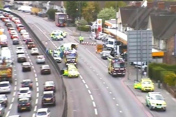 Crash: A woman has died on the North Circular: TfL