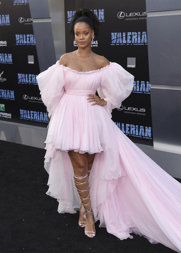 "<p>Nel film, basato su una graphic novel francese, Rihanna interpreta una sexy aliena. La cantante aveva già lavorato al cinema come doppiatrice, e prossimamente la vedremo in ""Ocean's 8"" (Photo by Jordan Strauss/Invision/AP). </p>"
