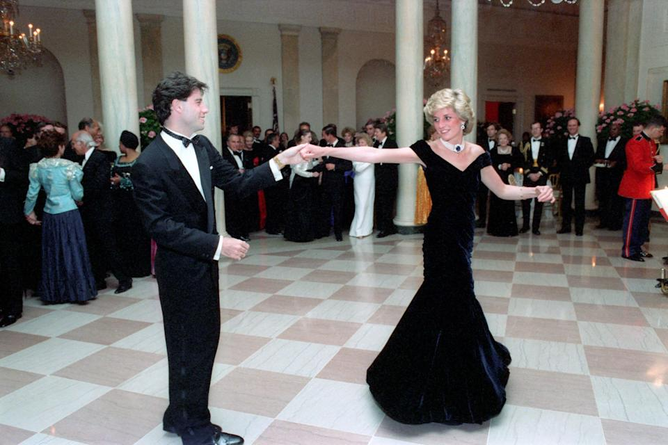 Diana dancing with John Travolta in 1985 at the White House. (Photo by Pete Souza/Ronald Reagan Library/CNP)