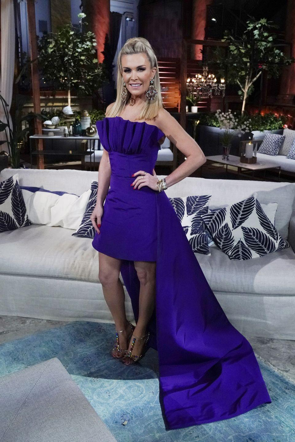 """<p>Another recent development in <em>New York City </em>is Tinsley Mortimer's departure. This one, however, came as no surprise and is actually a rare happy story as far as <em>Housewives</em> goes: she's moving to Chicago to be with her fiancé, Scott Kluth, whom castmate Carole Radziwill introduced her to while on the show. """"Thank you from the bottom of my heart to all my fans and friends who supported me and are happy for my fairy tale ending,"""" Tinsley <a href=""""https://www.instagram.com/p/CBUJrHRD9DV/"""" rel=""""nofollow noopener"""" target=""""_blank"""" data-ylk=""""slk:wrote on Instagram."""" class=""""link rapid-noclick-resp"""">wrote on Instagram. </a>""""Without #RHONY, I would never have met my prince charming, Scott.""""</p>"""