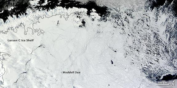 Satellite Spies Unusual Antarctic Sea Ice