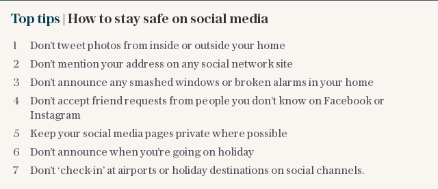 Top tips | How to stay safe on social media