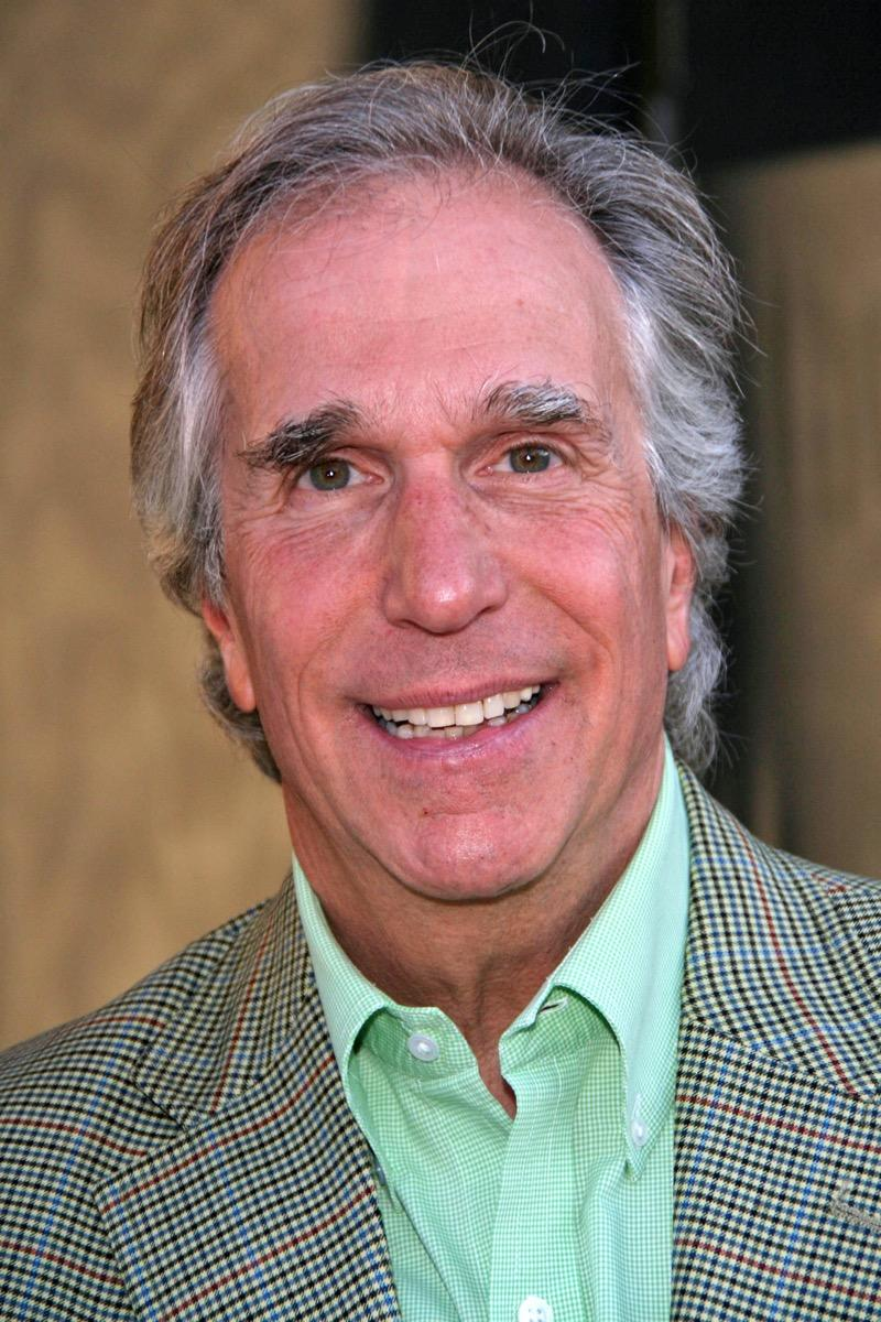 Henry Winkler wears a green shirt and plaid jacket at a party for Primetime Emmy Nominees in 2007