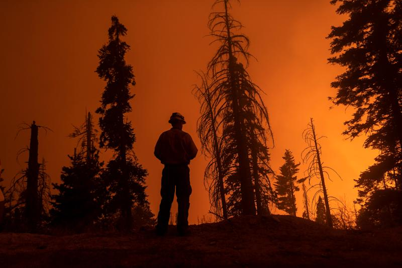 The Sequoia Complex Fire on 14 September, where Mexican crews have been dispatched to help (Getty Images)