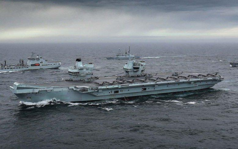This week the Royal Navy's complete Carrier Strike Group assembled for the first time in the North Sea. The multi-national group worked up together in preparation for the more demanding exercise Joint Warrior that begins this week