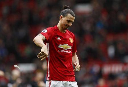 Manchester United's Zlatan Ibrahimovic looks dejected after the game