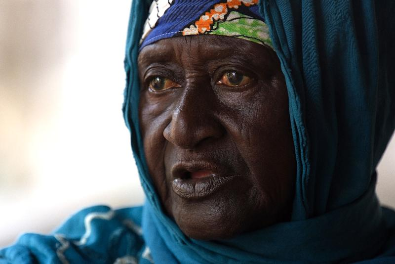 Mariama Fofana, believed to be an eighth-generation descendent of Kunta Kinte, sits in her home in Juffureh in The Gambia (AFP Photo/SEYLLOU)