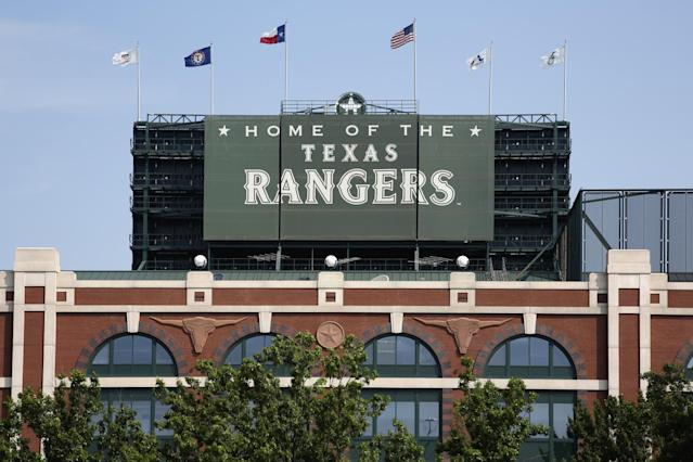 "Eight <a class=""link rapid-noclick-resp"" href=""/mlb/teams/tex/"" data-ylk=""slk:Texas Rangers"">Texas Rangers</a> prospects were questioned by police following an alleged sexual assault in the Dominican Republic. (Getty Images)"
