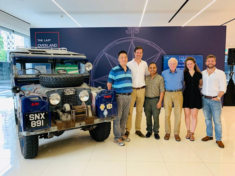 Crew members of The Last Overland expedition at a press conference at the Jaguar Land Rover showroom in Singapore on 30 May 2019. (PHOTO: Teng Yong Ping/Yahoo Lifestyle Singapore)