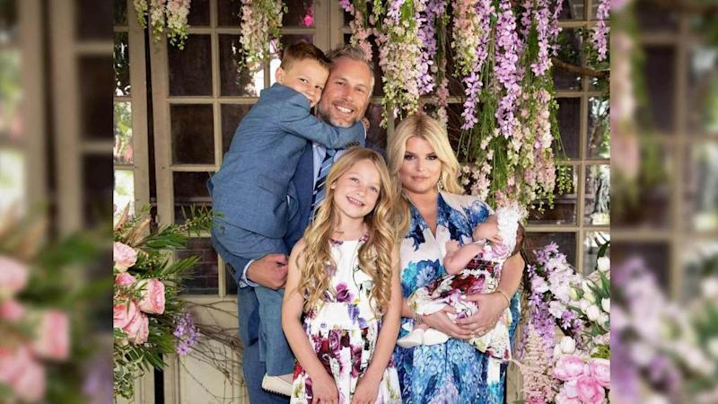 "<p>Jessica Simpson celebrated her first Easter with her newborn daughter Birdie and the family five could not have looked better. ""Happy Easter from the Johnson Family, Party of 5!"" Simpson wrote, captioning a photo of herself, husband Eric, along with Maxi, Ace, and Birdie (who just turned a month old). Jessica posted a separate photo […]</p> <p>The post <a rel=""nofollow"" rel=""nofollow"" href=""https://theblast.com/jessica-simpson-easter-family-photos/"">Jessica Simpson Shares Adorable Family Photos on Easter, Including First Clear Shot of Daughter Birdie</a> appeared first on <a rel=""nofollow"" rel=""nofollow"" href=""https://theblast.com"">The Blast</a>.</p>"