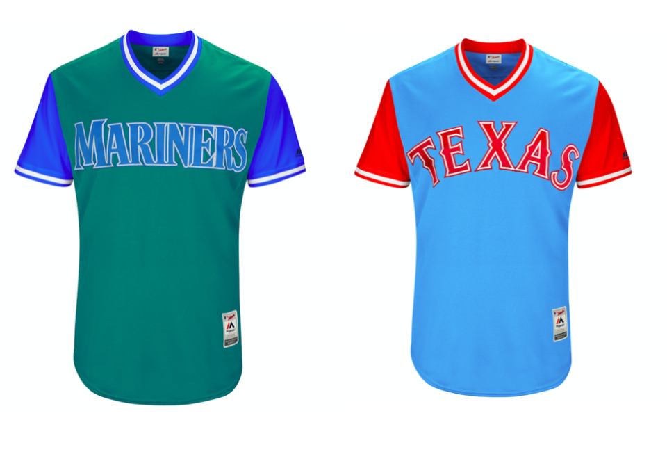 The Players Weekend jerseys feature more vibrant colors. (MLB)