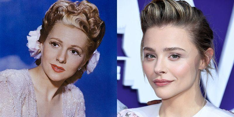 <p>Both Joan Fontaine and Chloë Grace Moretz started acting as children, but it's their high cheekbones and sharp chins that give them even more in common.</p>