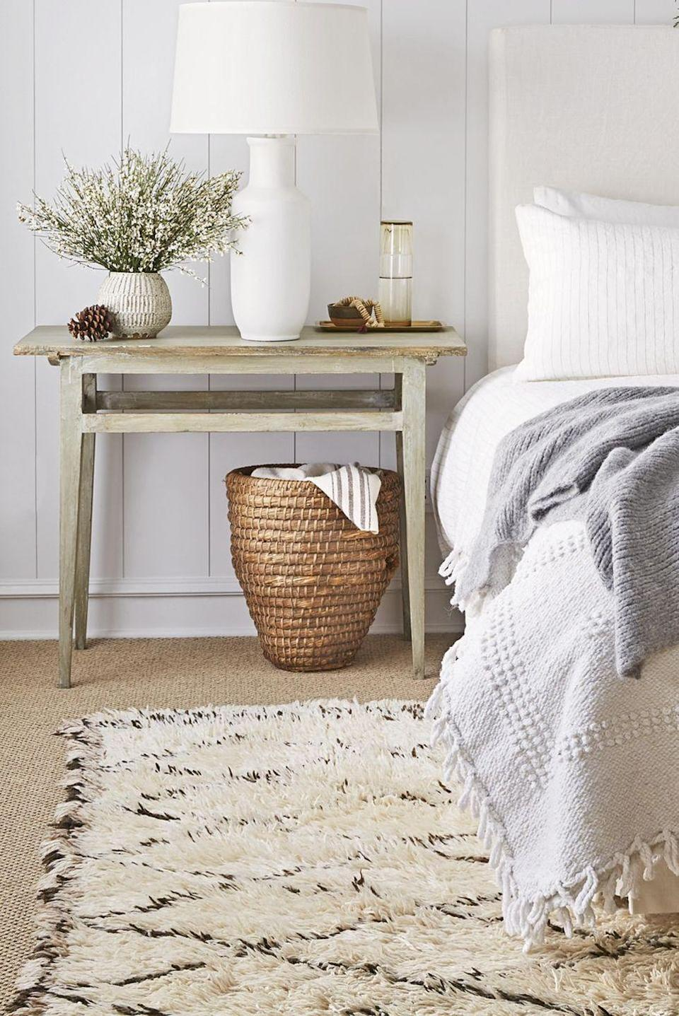 <p>A foolproof way to brighten up your home for spring is to go all-white. If that's not possible, try adding airier elements instead — think sheer white curtains that let the light in, white linens, and fresh houseplants. </p>