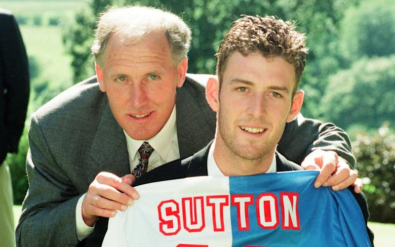 One of Chris Sutton's proudest moments - signing for Blackburn Rovers in 1994 - Daily Mirror
