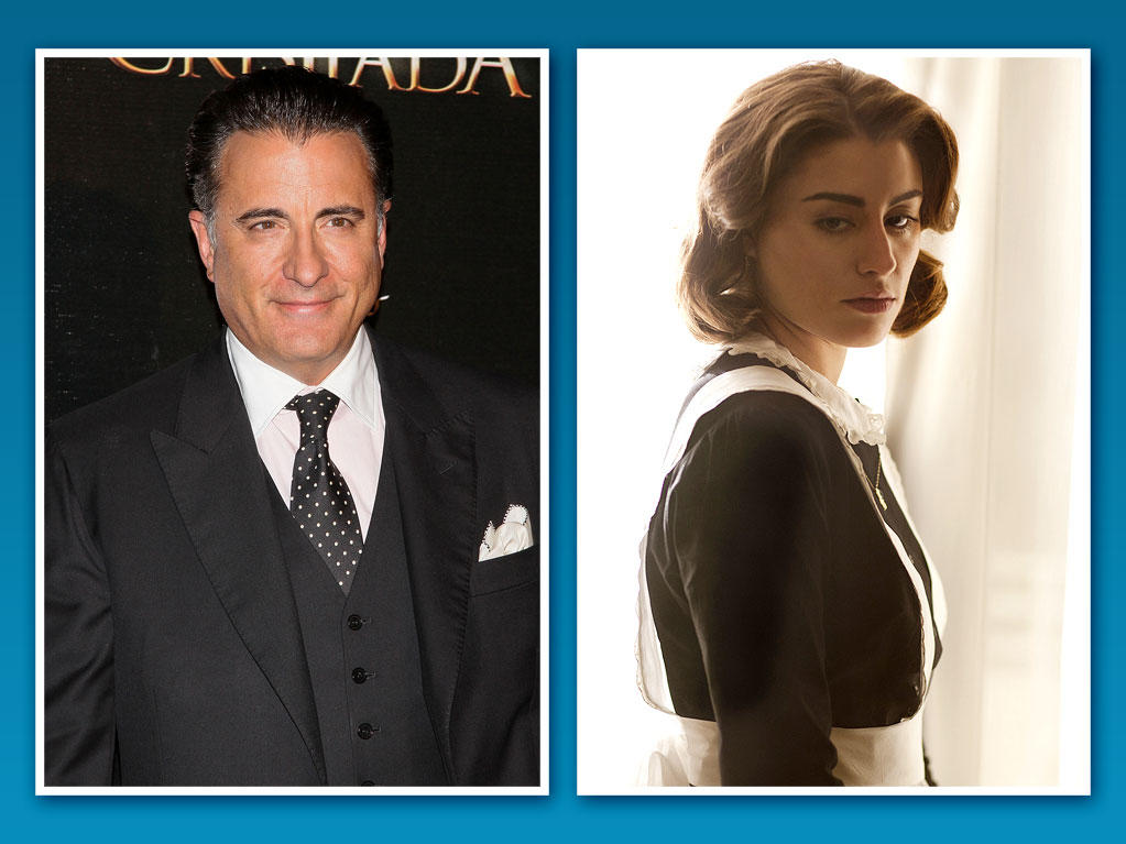 "Dominik Garcia-Lorido <br><br> Famous Family: Andy Garcia, father <br><br> Breaking Out on TV: On the new Starz drama ""Magic City,"" Garcia-Lorido plays hotel housekeeper Mercedes Lazaro -- and she should know a thing or two about retro crime sagas. Her dad, Andy Garcia, shot to fame with roles in ""The Untouchables"" and ""The Godfather Part III"" before joining George Clooney and Brad Pitt in the ""Ocean's Eleven"" films. The 28-year-old Dominik began her acting career in Andy's films ""The Lost City"" and ""City Island"" before striking out on her own on the small screen."