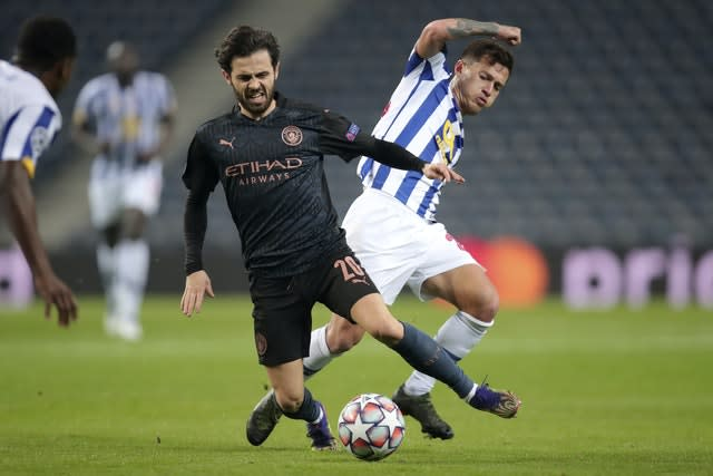 Bernardo Silva, formerly of Porto's rivals Benfica, was also involved in the game