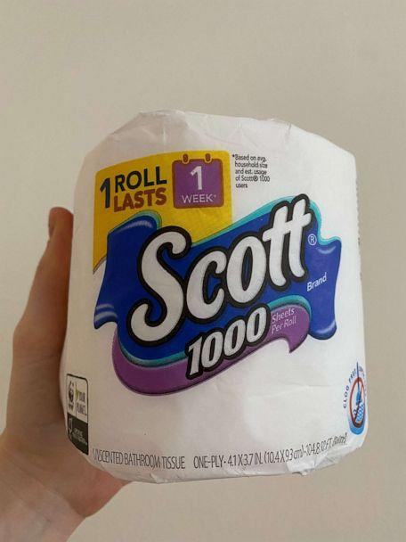 PHOTO: A roll of Scott toilet paper that has 1,000 sheets of bath tissue. (ABC News)