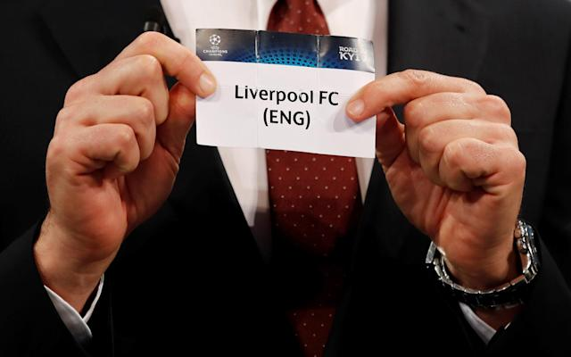 Soccer Football - Champions League Semi-Final Draw - Nyon, Switzerland - April 13, 2018 Andriy Shevchenko draws Liverpool REUTERS/Stefan Wermuth