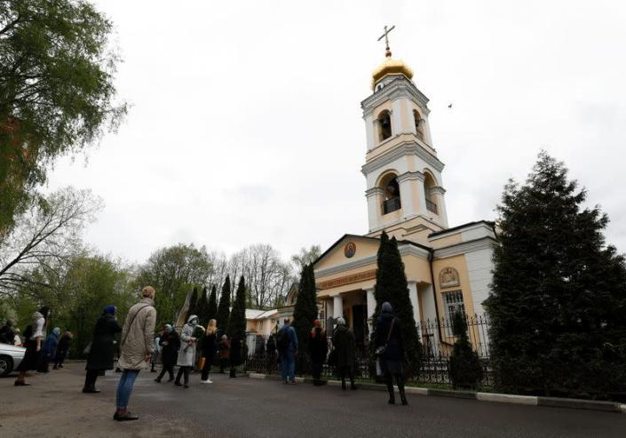 Orthodox deacon Andrei Molchanov's funeral, who died after contracting the coronavirus disease (COVID-19), in Moscow
