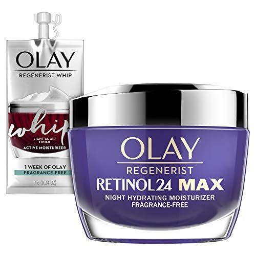 """<p><strong>Olay</strong></p><p>amazon.com</p><p><strong>$52.99</strong></p><p><a href=""""https://www.amazon.com/dp/B08CFKB29L?tag=syn-yahoo-20&ascsubtag=%5Bartid%7C10063.g.35091097%5Bsrc%7Cyahoo-us"""" rel=""""nofollow noopener"""" target=""""_blank"""" data-ylk=""""slk:BUY IT HERE"""" class=""""link rapid-noclick-resp"""">BUY IT HERE</a></p><p>This new retinol anti-aging night cream contains more retinol that the original version (which is one of our favorites) but still has a rich, creamy fragrance-free formula that moisturizes skin and could help cut down on any potential irritation.</p>"""