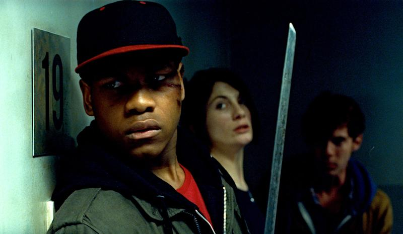 John Boyega, Jodie Whittaker and Luke Treadaway in Joe Cornish's <i>Attack The Block</i>. (Optimum Releasing)