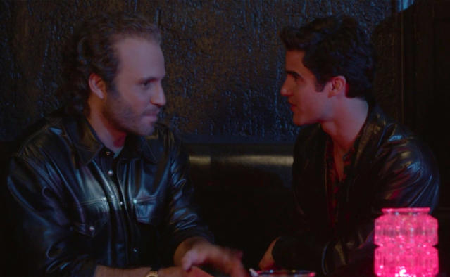 Gianni Versace and Andrew Cunanan at a San Francisco club in <em>The Assassination of Gianni Versace</em>. (Photo: FX)