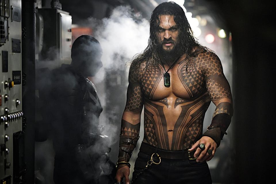 Jason Momoa stars as Aquaman in James Wan's 2018 blockbuster. (Photo: Jasin Boland/Warner Bros./Courtesy of Everett Collection)