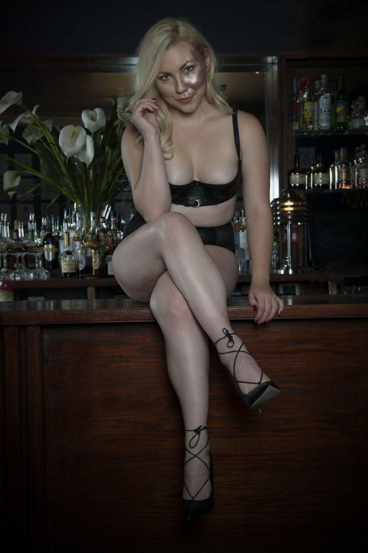 Paige was born with a port-wine birthmark across her face [Photo: Curvy Kate]