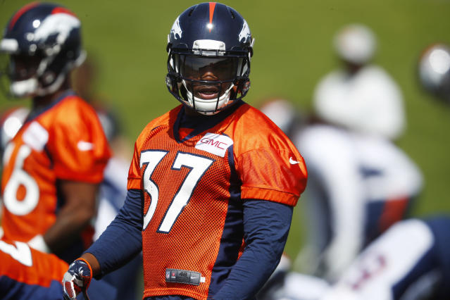 Denver Broncos running back Royce Freeman is set to make an impressive debut in Week 1.(AP Photo/David Zalubowski)