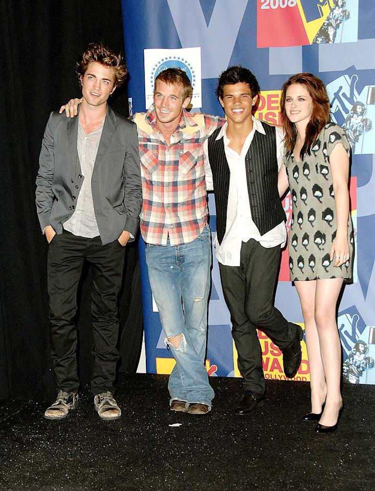 """Of course, Taylor got his big break when he hooked up with Robert Pattinson, Cam Gigandet, Kristen Stewart, and other Hollywood up-and-comers for """"Twilight."""" Jon Kopaloff/<a href=""""http://www.filmmagic.com/"""" target=""""new"""">FilmMagic.com</a> - September 7, 2008"""