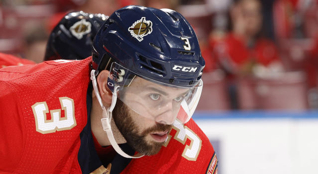Whether he's on or off the ice, Florida's Keith Yandle is seemingly always on his game and brewing some sort of scheme. (Joel Auerbach/Getty Images)