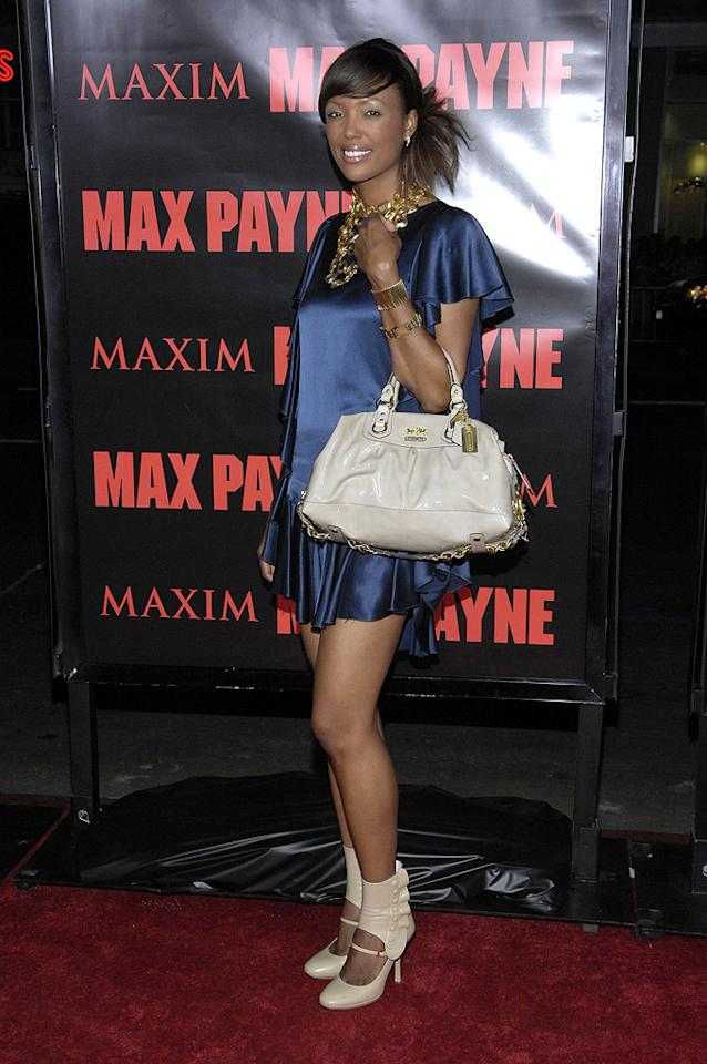 """<a href=""""http://movies.yahoo.com/movie/contributor/1804572707"""">Aisha Tyler</a> at the Los Angeles premiere of <a href=""""http://movies.yahoo.com/movie/1810007086/info"""">Max Payne</a> - 10/13/2008"""