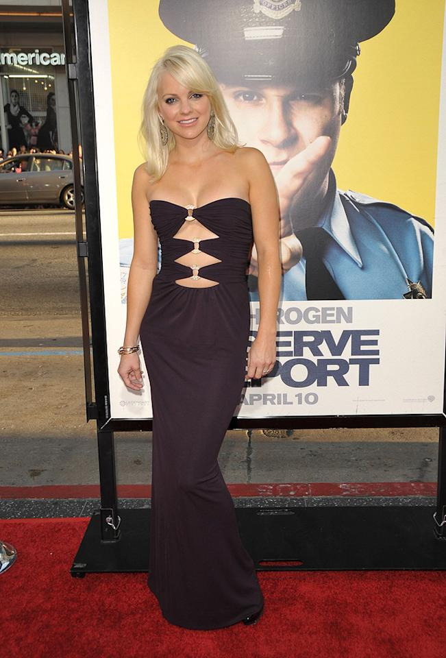 """<a href=""""http://movies.yahoo.com/movie/contributor/1800506130"""">Anna Faris</a> at the Los Angeles premiere of <a href=""""http://movies.yahoo.com/movie/1810025224/info"""">Observe and Report</a> - 04/06/2009"""