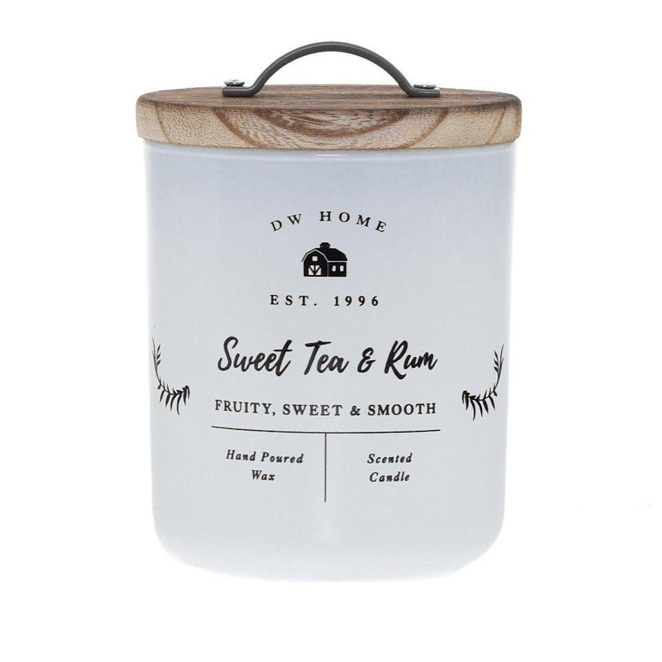 """<p>dwhome.com</p><p><strong>$14.00</strong></p><p><a href=""""https://www.dwhome.com/products/sweet-tea-rum"""" rel=""""nofollow noopener"""" target=""""_blank"""" data-ylk=""""slk:Shop Now"""" class=""""link rapid-noclick-resp"""">Shop Now</a></p><p>The fruity and smooth scents of white rum and lime juice blended with sweet orange curaçao, orgeat syrup, and dark rum will make her wish she was sipping on her favorite cocktail. The pretty packaging will fit right in with her farmhouse decor.</p>"""