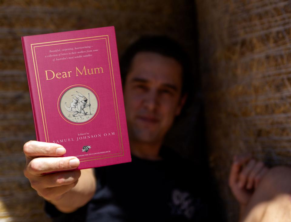 Samuel Johnson has revealed he's written a book called Dear Mum as a tribute to his own mother who took her own life when he was just three. Photo: Facebook