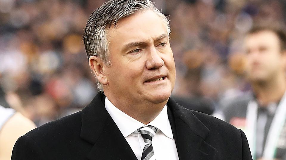 Eddie McGuire looks on after the 2018 AFL Grand Final between Collingwood and West Coast. (Photo by Ryan Pierse/AFL Media/Getty Images)