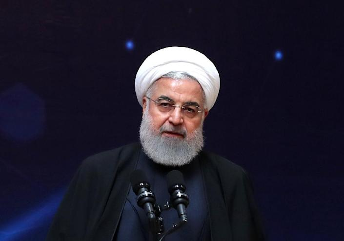 Iranian President Hassan Rouhani accused US forces of involvement in terrorism (AFP Photo/HO)