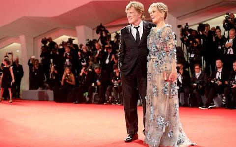 Redford and Fonda on the red carpet at the 74th Venice Film Festival