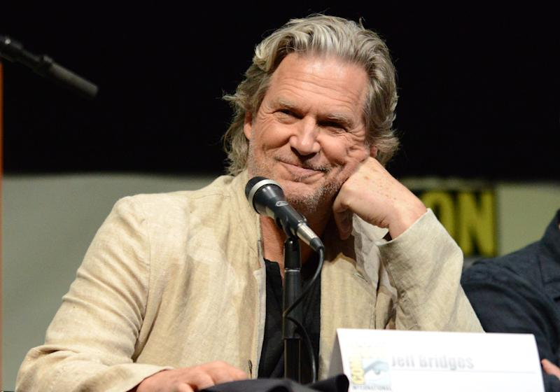 "Jeff Bridges attends the ""Seventh Son"" panel on Day 4 of Comic-Con International on Saturday, July 20, 2013 in San Diego. (Photo by Jordan Strauss/Invision/AP)"