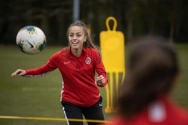 Vancouver's Julia Grosso, 20, has been selected to the Canadian Olympic soccer team for Tokyo.  (submitted by Canada Soccer - image credit)