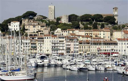 File photo of luxury yachts and boats mooring in the port of Cannes