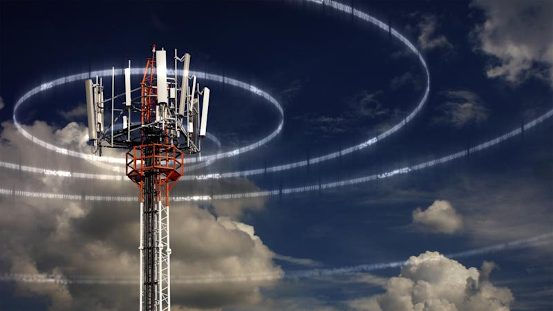 A cell phone tower